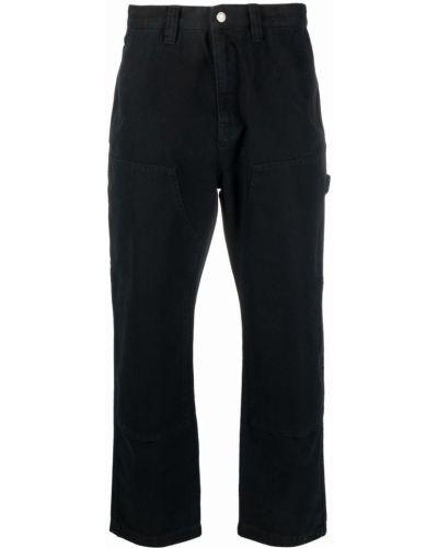 Джинсовые широкие джинсы - черные Stussy