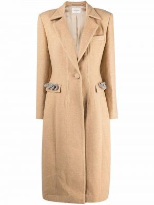 Бежевое длинное пальто Giuseppe Di Morabito