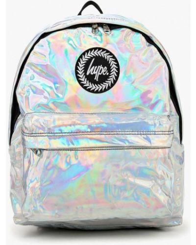 Рюкзак лаковый серебряный Hype
