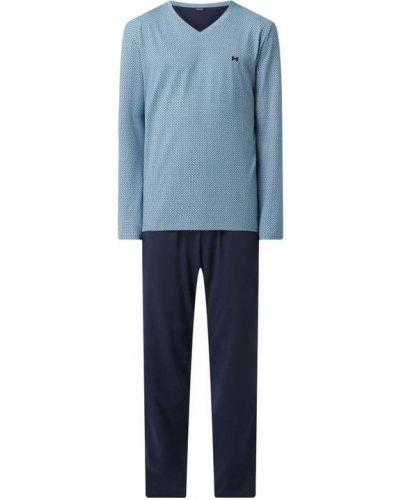 Piżama z długimi rękawami - niebieska Hom