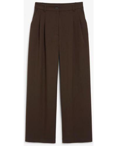 Классические брюки с завышенной талией - коричневые Monki