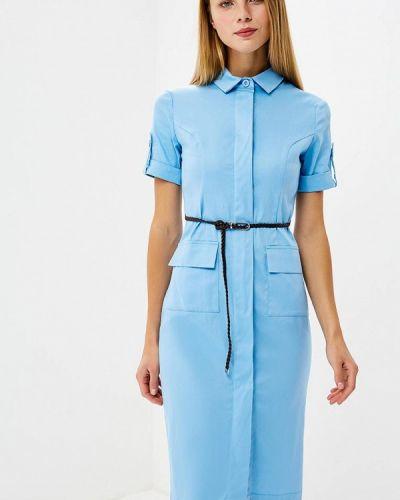 Голубое платье футляр Trendyangel