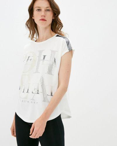 Белая футболка с короткими рукавами Deha