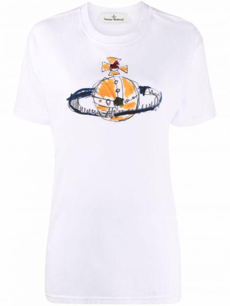 Белая футболка с короткими рукавами Vivienne Westwood