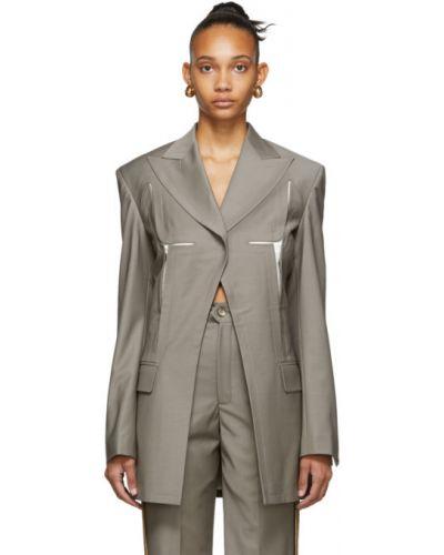Шерстяной пиджак с карманами с воротником с лацканами Situationist