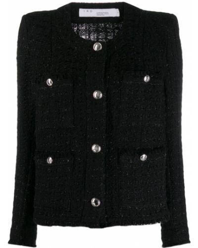 Длинная куртка черная серебряная Iro