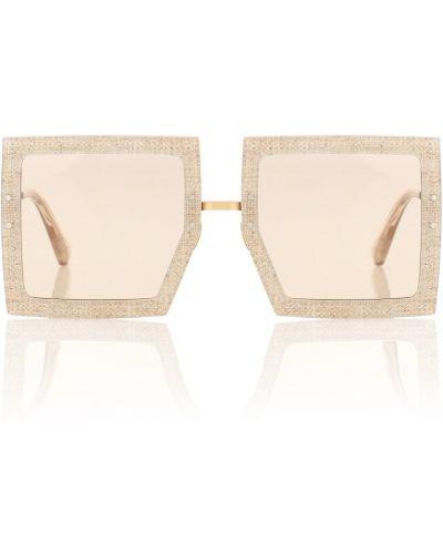 Złote okulary Jacquemus