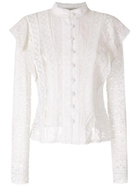 Хлопковая белая рубашка с длинными рукавами Martha Medeiros