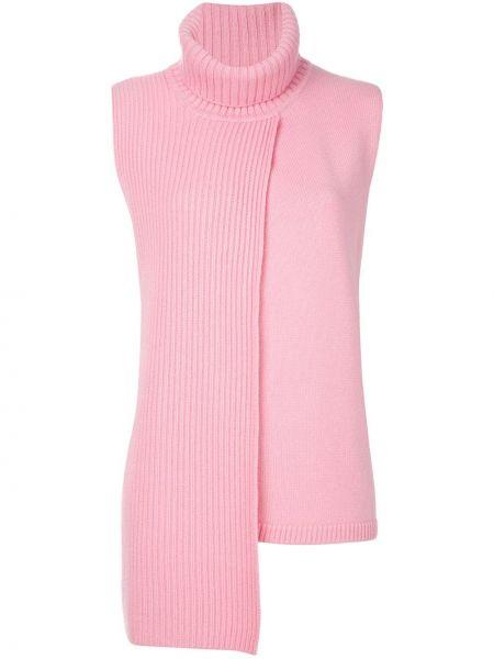 Кашемировый розовый топ без рукавов Cashmere In Love