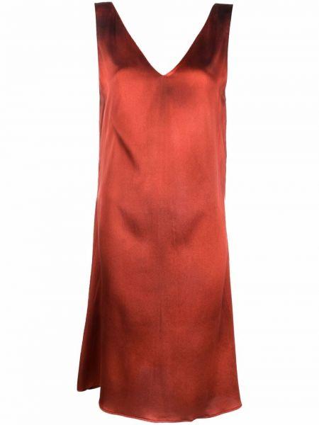 Шелковое платье - оранжевое Avant Toi