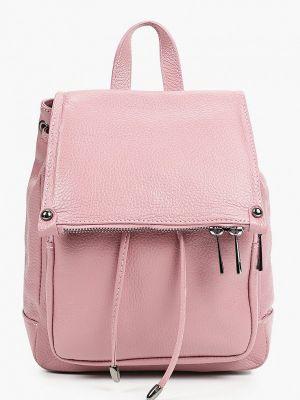 Розовый городской рюкзак из натуральной кожи Giulia Monti