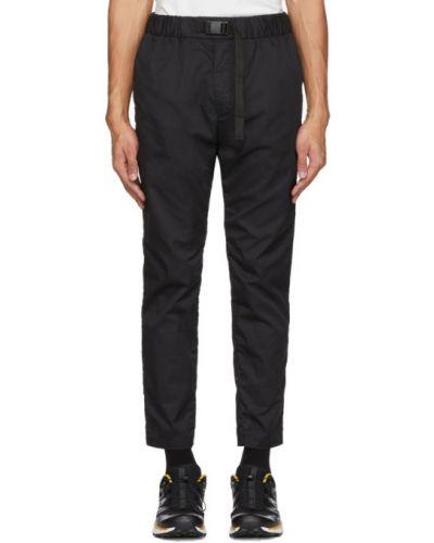 Czarne spodnie bawełniane z paskiem Minotaur