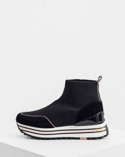 Текстильные высокие кроссовки - черные Liu Jo