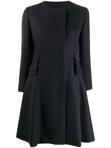 Терракотовое приталенное шерстяное расклешенное укороченное пальто Christian Dior