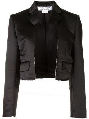 С рукавами прямой черный удлиненный пиджак Comme Des Garçons Comme Des Garçons