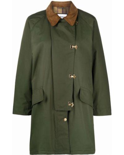 Пальто с рукавом реглан - зеленое Barbour