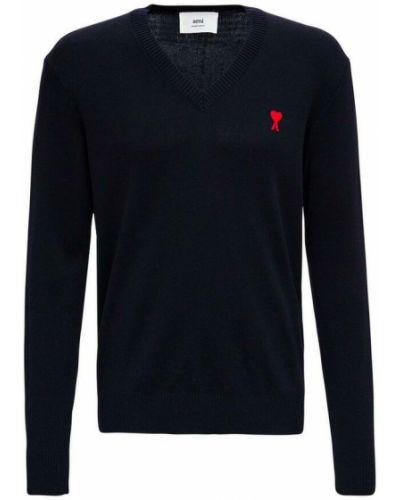 Niebieski sweter Ami Paris