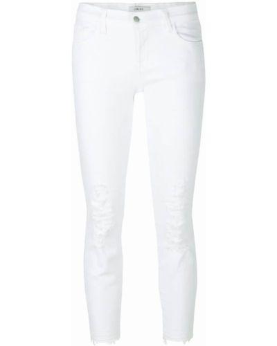 Белые укороченные джинсы J Brand