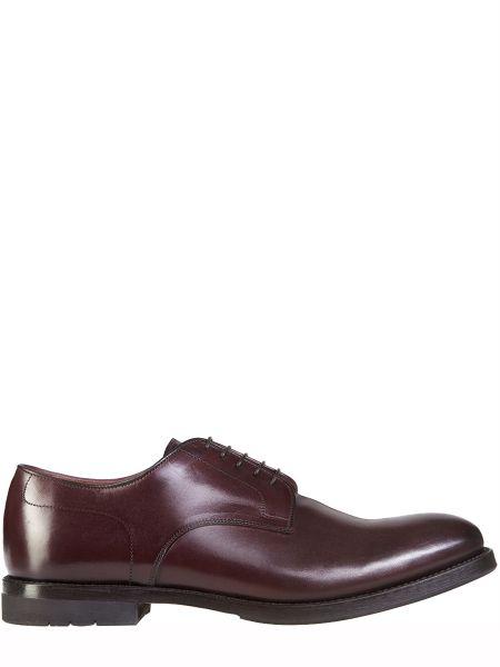 Кожаные красные туфли на шнуровке с декоративной отделкой на шнуровке Franceschetti