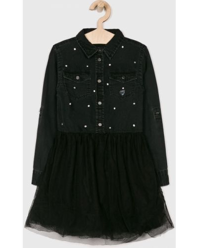 Платье с рукавами джинсовое черное Guess Jeans
