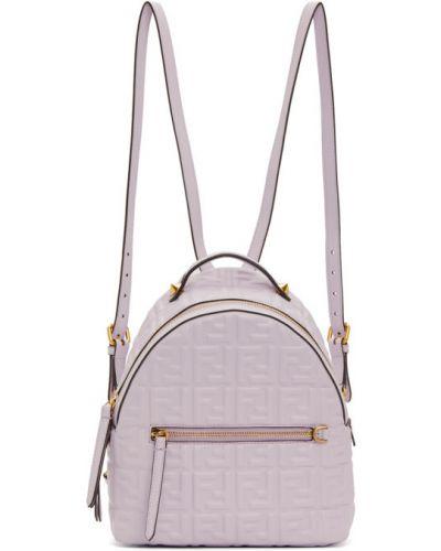 Черный кожаный рюкзак с карманами Fendi