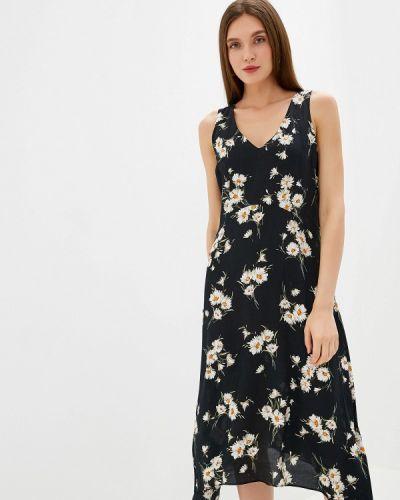 Повседневное платье осеннее черное Wallis