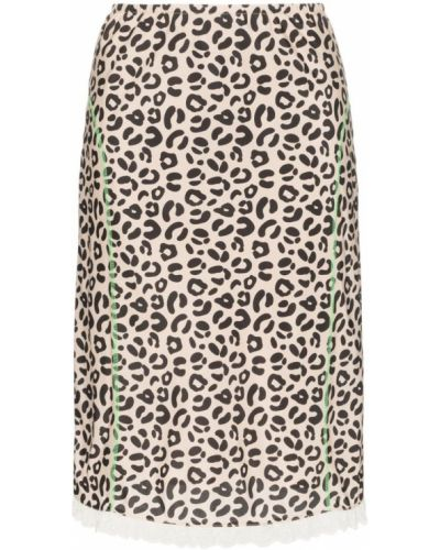 Юбка с завышенной талией леопардовая Sandy Liang