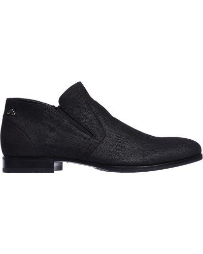 Серые кожаные ботинки Fabi
