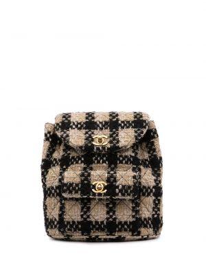 Текстильный рюкзак на шнурках винтажный Chanel Pre-owned