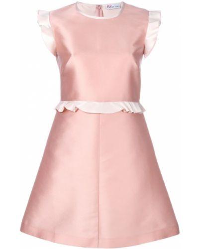 Платье мини платье-солнце с оборками Red Valentino