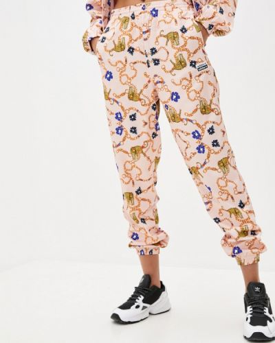 Розовые брюки карго Adidas Originals
