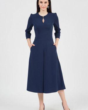 Повседневное платье осеннее синее Grey Cat