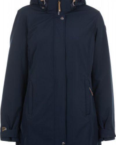 Утепленная куртка с капюшоном длинная Icepeak
