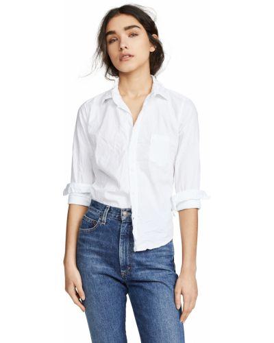 Пуховая рубашка - белая Frank & Eileen