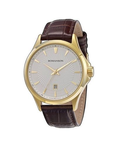 Часы с кожаным ремешком Romanson
