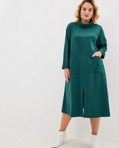 Повседневное платье осеннее зеленый Svesta