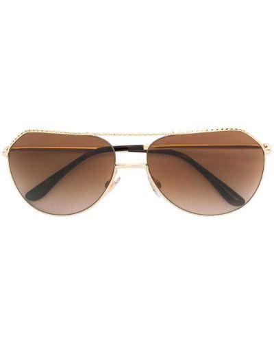 Солнцезащитные очки авиаторы металлические Dolce & Gabbana Eyewear