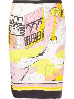 Облегающая розовая рубашка из вискозы Emilio Pucci