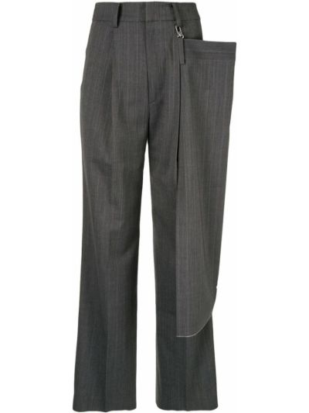 Spodnie z wysokim stanem wełniane z paskiem Ader Error