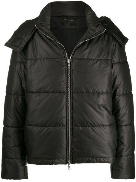Черная короткая куртка свободного кроя Odeur