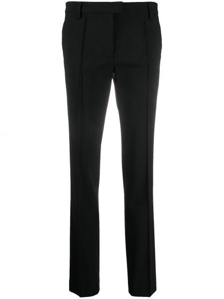 Шерстяные черные брюки с высокой посадкой с потайной застежкой Redemption
