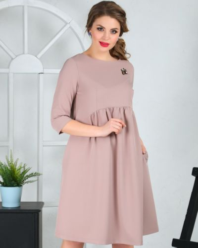 Платье миди деловое со складками Ellcora