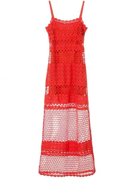 Ажурное платье - красное Suboo