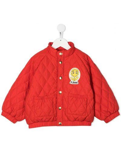 Z rękawami pikowana kurtka z mankietami z kieszeniami z łatami Mini Rodini