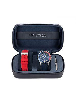 Красные силиконовые часы Nautica