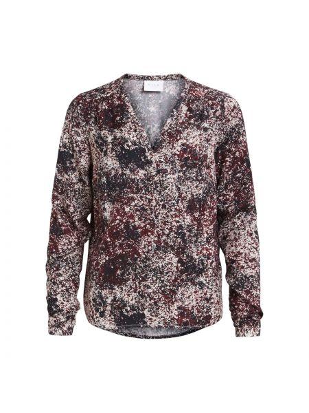 Блузка с длинным рукавом с V-образным вырезом с вырезом Vila