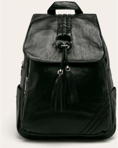 Кожаный рюкзак черный однотонный Answear