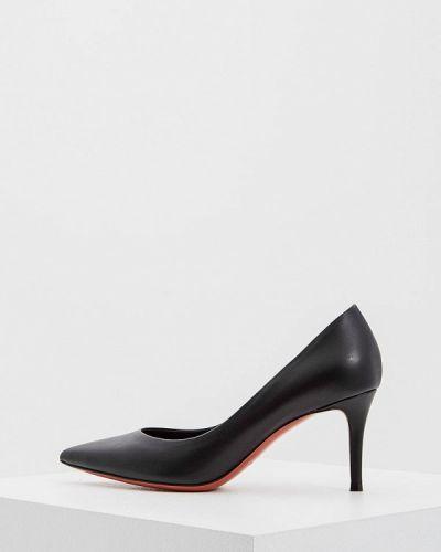Кожаные туфли лодочки на каблуке Baldinini