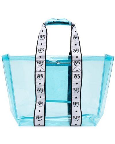 Niebieska torebka z printem Chiara Ferragni