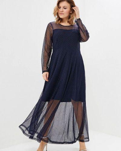 Платье осеннее синее Jp